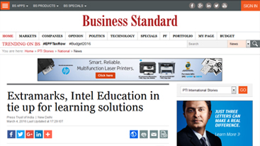 Extramarks Intel Education in tie up for learning solutions